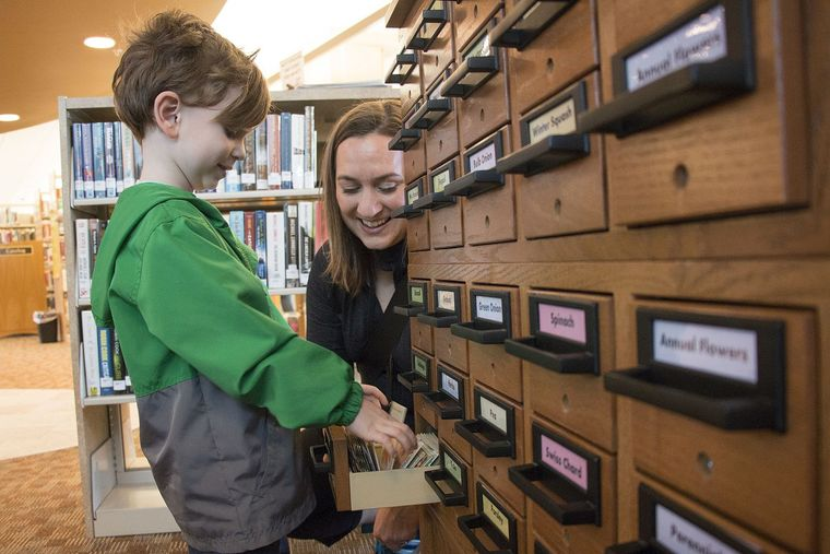 Little Boy at Seed Library